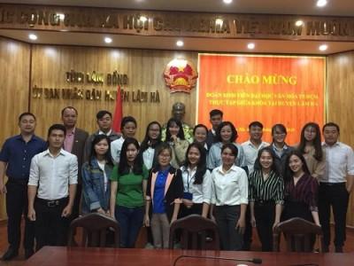 Huyện Lâm Hà tổ chức đón sinh viên Khoa Quản lý Văn hóa, Nghệ thuật về thực tập